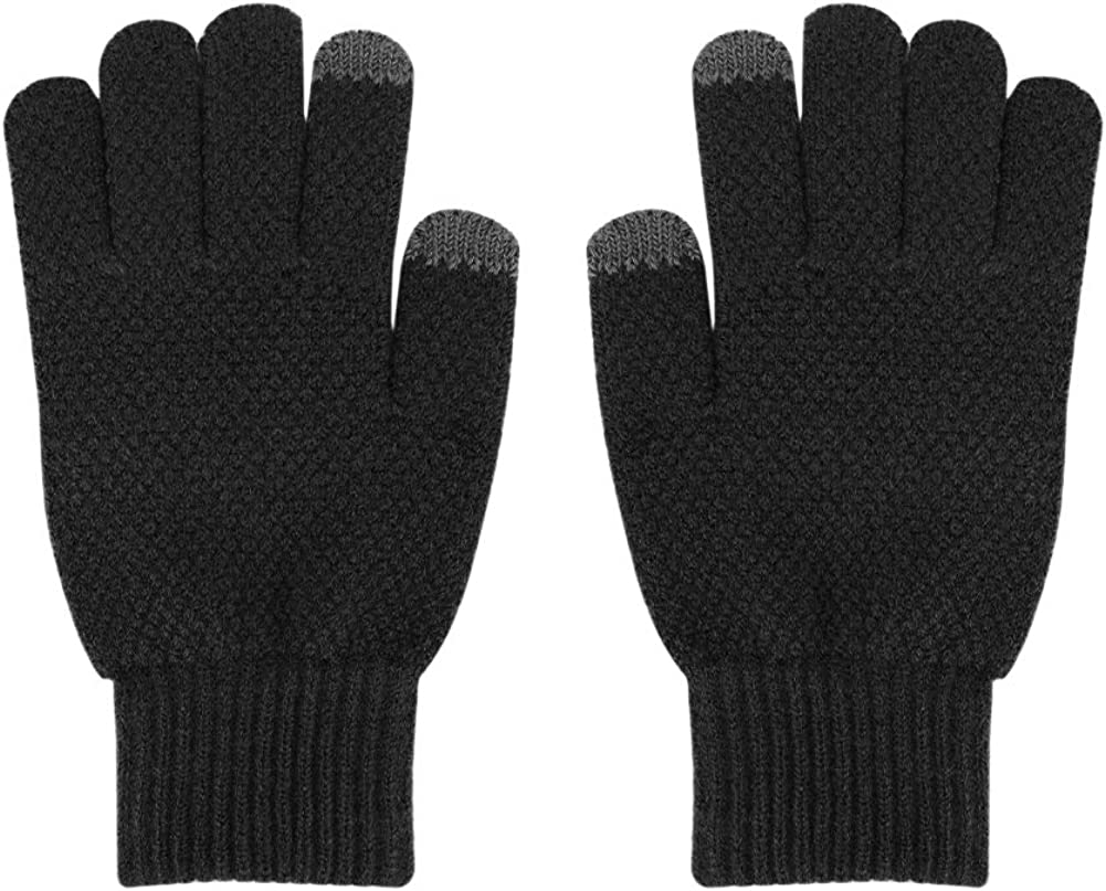 Warm Knitted Touchscreen Gloves Winter Wool Lined Texting Gloves with Touch Screen Fingers Thermal Mittens Adults Youths