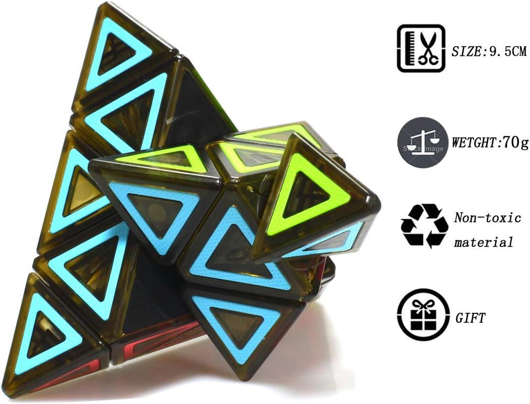TOYESS Pyraminx Pyramide Triangolo Cubo Stickerless Speed Cube 3x3x3 Smooth Cubo Magico Cubo di velocit/à Puzzle Cube Giocattolo Regalo per i Bambini e Adulto