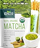 Organic Matcha Green Tea Powder by Enzo Full with Strong Milky Flavour, Easy to Dissolve in Hot...