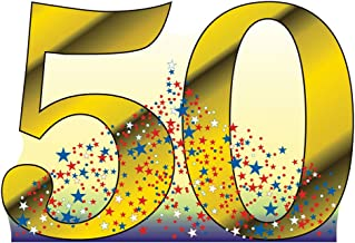 Advanced Graphics Number 50 Life Size Cardboard Cutout Standup - 50th Anniversary - 50th Birthday