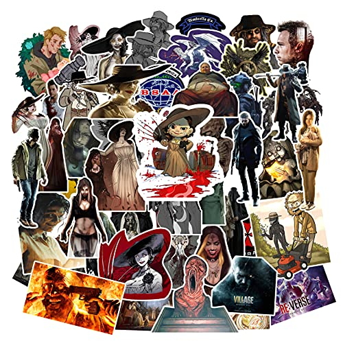 Resident Evil Village Stickers (50pcs Large Size) Gifts Resident Evil 7: Biohazard CollectionMerch Waterproof Stickers Laptop Terror Game Stickers