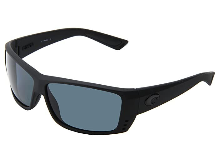 Costa  Cat Cay 580 Plastic (Black Out/Gray 580 Plastic Lens) Sport Sunglasses