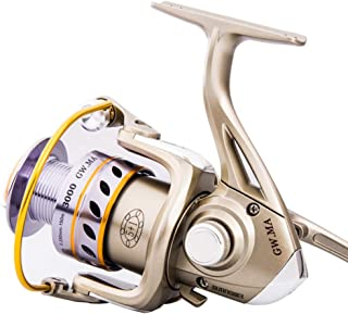 DUYULU Fishing Reel Full Metal Head Fish Wheel Far-Casting Spinning Sea Rod Asian Carp Fishing Gear Valve Stem with Small Round Left and Right Hand Interchangeable