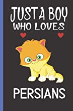 Just A Boy Who Loves Persians: Cute Persians Lover Notebook, Blank Lined Journal For Writing Notes, Persians Notebook Jour...