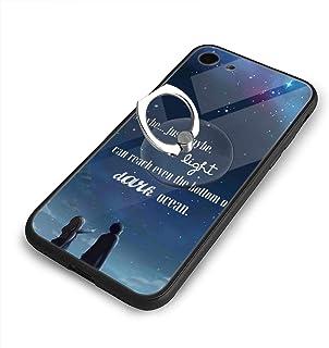 Your Lie In April 4月のあなたの嘘 Iphone 7/8 TPU Glass Phone Case 超薄 ケース カバー 背面強化ガラスケース TPUソフトケース 衝撃吸収 バンパー 傷つき防止 スマホケース