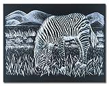 Melissa & Doug Scratch Art Scratchboard - 50-Pack, Shimmering Silver on Black Background