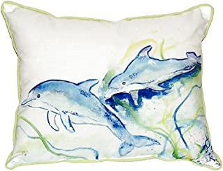 "Betsy Drake SN002 Betsy's Dolphins Pillow, 11"" x14"""