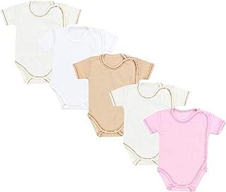 TupTam Unisex Baby Kurzarm Wickelbody 5er Pack