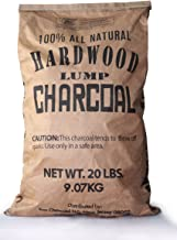 Eco Charcoal Mexican 20 LB Extra Large Super Premium All Natural Hardwood Lump Charcoal