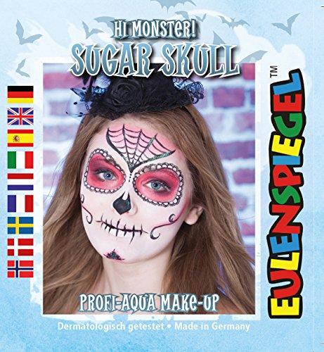 Süsser Totenkopf Hi Monster ! Sugar Skull Profi-Aqua Make-up Halloween Kinderschminke