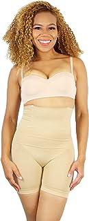 ROBERT MATTHEW Womens Shapewear Tummy Control Shorts Brilliance High-Waist Panty Mid-Thigh Body...