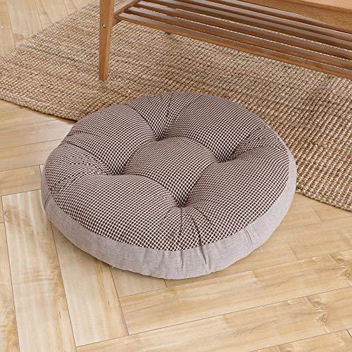 JKCTOPHOME Cojines de Asiento,Otoño e Invierno hogar Engrosado cálido cojín Redondo Simple-K_55 * 55CM,Almohadillas para sillas