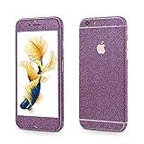 OKCS®Premium Smartphone Sparkle Sticker iPhone 6 / 6s Skin Glitzerfolie Protector Folie Schutzfolie Slim Sticker in Purple Rain