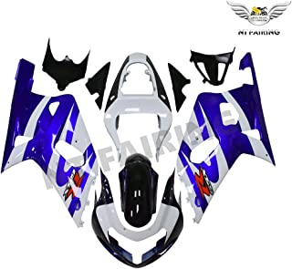 NT FAIRING Blue White Injection Mold Fairings Fit for Suzuki 2001 2002 2003 GSXR 600 750 K1 01 02 03 GSX-R600 Aftermarket Painted Kit ABS Plastic Motorcycle Bodywork