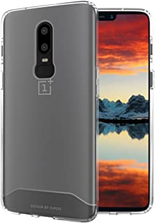 OnePlus 6 Case, TUDIA [ARCH S Series] Slim-Fit HEAVY DUTY Drop-Proof Lightweight Flexible Soft TPU Protective Shock Absorption Minimal Design Polyurethane Phone Case for OnePlus 6 (Frosted Clear)