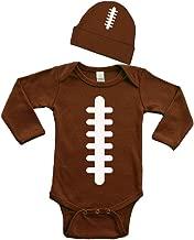 PandoraTees Football Baby Bodysuit Set