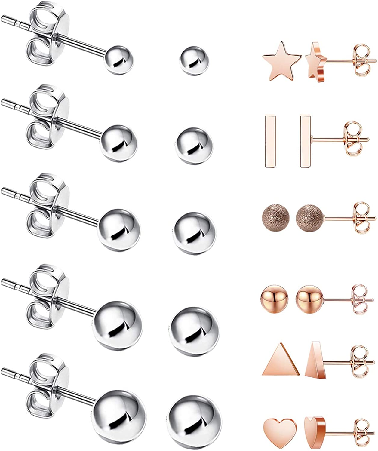 11 Limited price Pairs Bar Stud Earrings Cubic Year-end gift Zirconia Set 31 Hypoallergenic