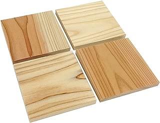 【無垢材】杉板 (無節・乾燥材) 国産品 板材・木材 (長100×巾100×厚7.5mm 4枚セット)