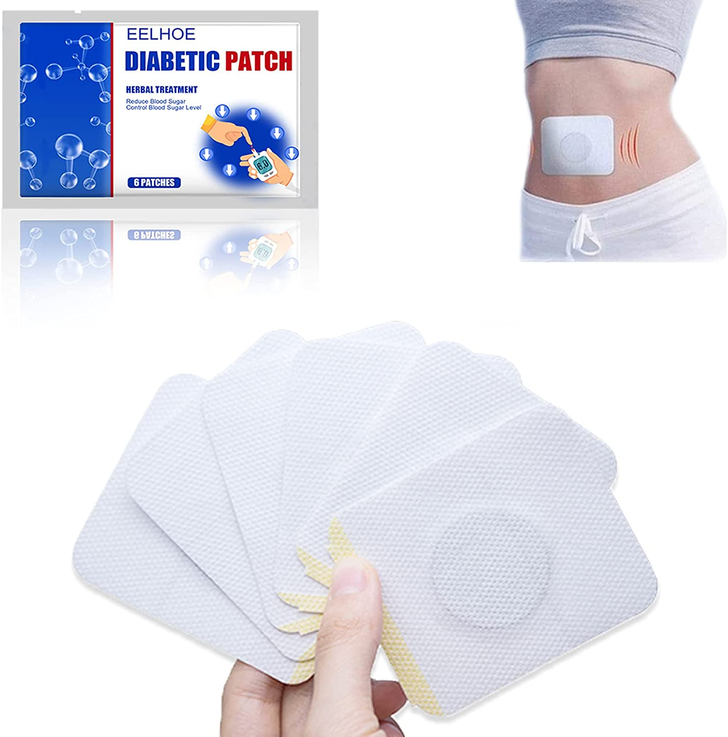 Import ZMCY Natural Herbal Diabetes Pad Paste Butto Anti-Diabetic Rapid rise Belly