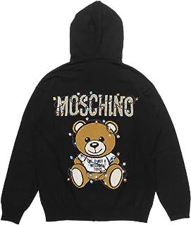 (モスキーノ) MOSCHINO フード付 長袖ニット ブラック 0901 4100 1555 [並行輸入品]