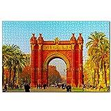 España Barcelona Arco del Triunfo Rompecabezas para Adultos, 1000 Piezas de Madera, Regalo de Viaje, Recuerdo, 30x20 Pulgadas