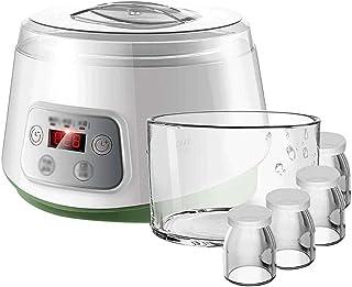 SJYDQ Machine Automatique yogourt Multifonction avec épaissie en Verre Liner, 4 Petites Tasses, Maison natto Riz Machine à...