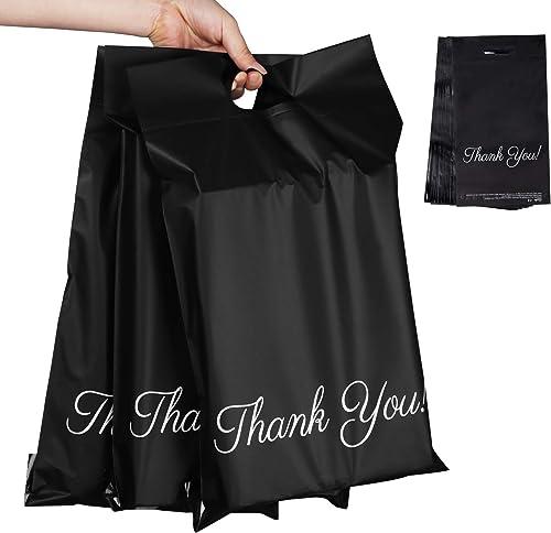 """60pcs Sacs Plastique pour Courrier 25 x 35cm+5cm+6cm,Sacs D'expédition """"Thank you"""" Fourre-tout Enveloppes Postales,Et..."""