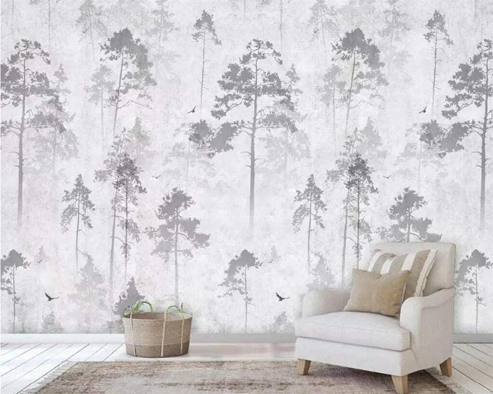 Custom Year-end annual account 3D Wallpaper Hand-Painted Gray Wa Woods Background Elk overseas Tv