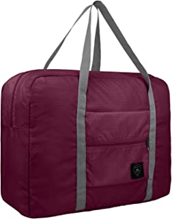 Travel Foldable Duffel Bag for Women & Men, Waterproof Lightweight Travel Luggage Bag for Travel, Sports and Gym - Red
