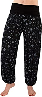 Sceoyche Women Ladies Printed Loose Leg Pants Women's Casual Pants Harem Pants