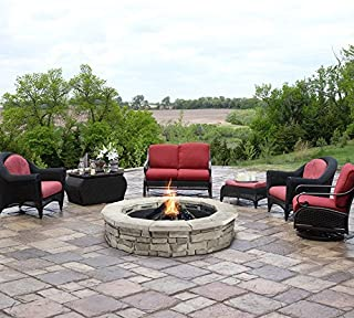 Natural Concrete Products Co RSFPG Firepit, 66 Inch Outside Diameter White