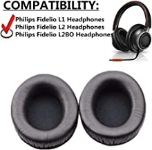 YXMIWQYA Replacement Pillow Ear Pads Foam Earpads Earmuff Ear Cushions Cover Cups for Philips Fidelio L1 L2 L2BO Headphone Headset