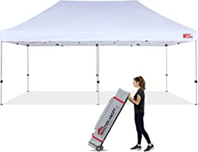 MASTERCANOPY Pop Up Canopy Tent Commercial Grade 10x20 Instant Shelter with Heavy Duty Roller Bag (10'x20',White)