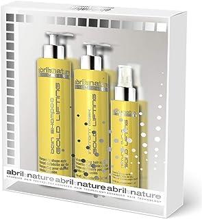 abril et nature - Gift Pack linea GOLD LIFTING - Include Maschera Capelli, Siero Capelli e Shampoo Capelli Ricci in regalo...