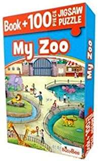 Jigsaw Puzzle 100 pieces - MY ZOO | For Girls, Boys Toddlers and Kids | Kids Educational Toys