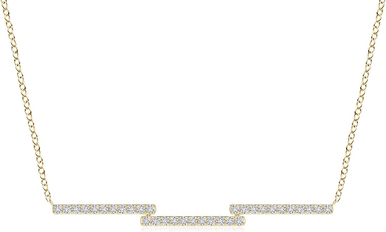 Diamond Step Bar Max 51% OFF Japan Maker New Necklace cttw 0.363