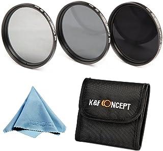 72mm ND、K&F Concept® NDフィルター 72mm 減光フィルター ND2 ND4 ND8 3枚セット カメラフィルターキット 光量調節用 Canon、Nikonなどのデジタル一眼レフカメラ専用+クリーニングクロス+フィルターケース