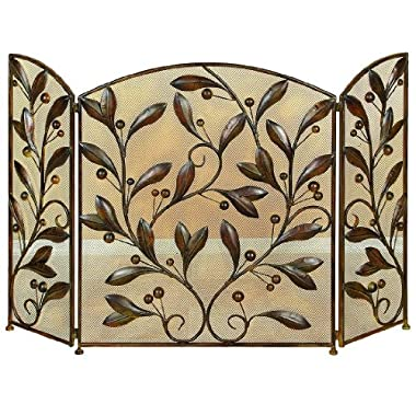 Deco 79 Metal Fire Screen, 48 by 30-Inch