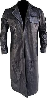 Men's The Punisher Frank Castle Vigilante Black Leather Long Trench Coat