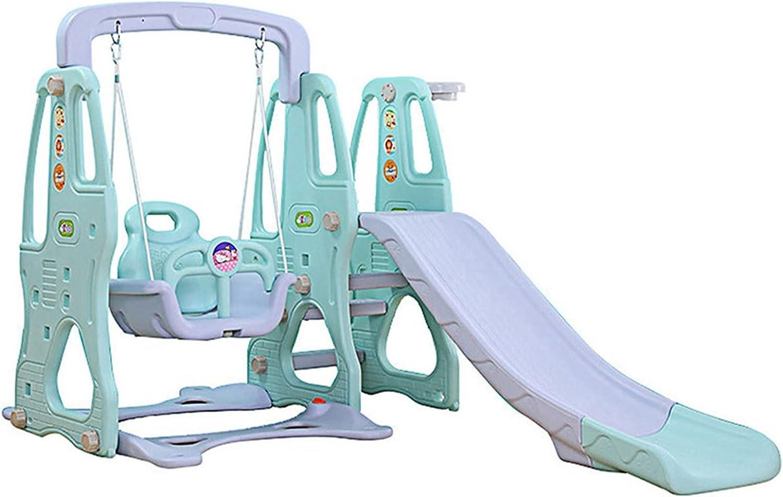 CSBYBD 3 in 1 Toddler Toys Swing Set,Kids Play Climber Slide wit