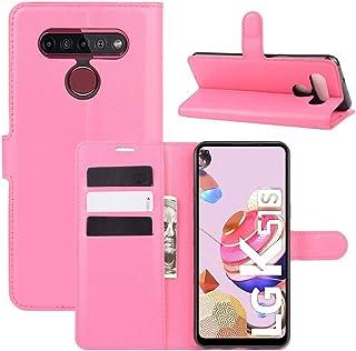 حالات LG For LG K41S / K51S Litchi Texture Horizontal Flip Protective Case with Holder & Card Slots & Wallet(Black) حالات ...