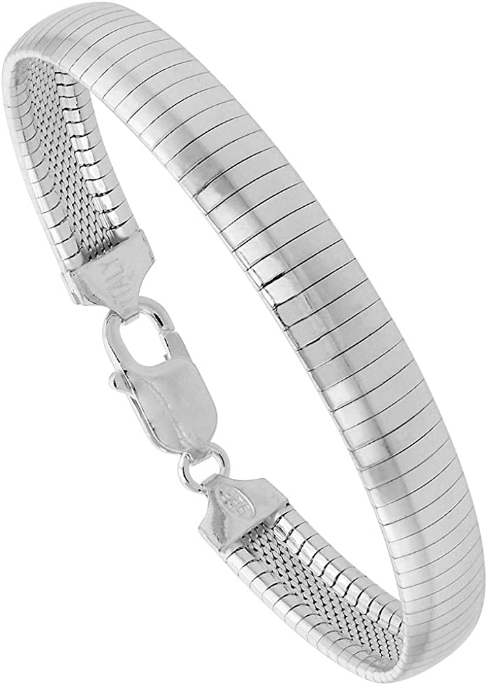 Sterling Over item handling ☆ Silver Omega Ranking TOP13 Bracelets 2-10mm Free Nickel Wide Italy 7