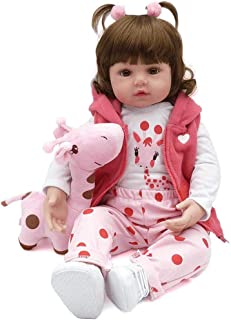 Boneca Bebê Reborn Menina Realista Membros De Silicone 48 cm