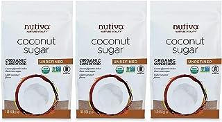 Nutiva Organic Unrefined Granulated Coconut Sugar, 1 Pound (Pack of 3) | USDA Organic & Non-GMO | Vegan & Gluten-Free | Lo...