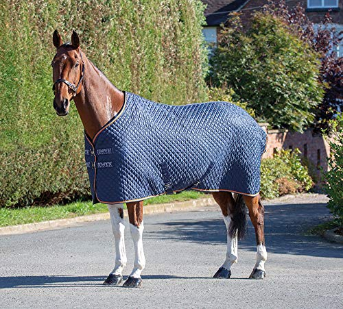 Shires Tempest Thermo-Decke für Pferde/Pony, 167,6 cm, Marineblau