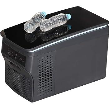 ブラック鏡面天板 車 車載用 冷蔵庫 冷凍庫 容量26リットル ポータブル 12V 24V 兼用 静音設計 -25℃~20℃ 3.3mのロングケーブル