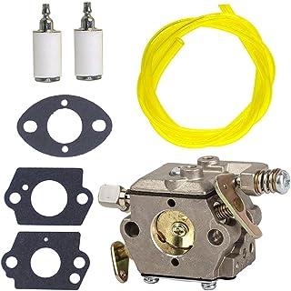 NIMTEK New Carburetor with Fuel Line Fuel Filter Gasket for Tecumseh 640347 640347A TM049XA TC200 TC300 2-Cycle Vertical E...