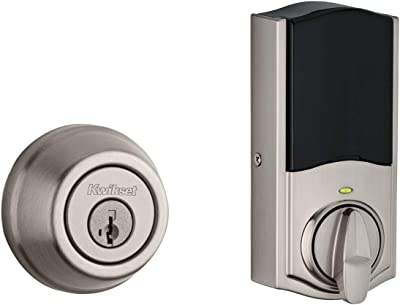 Kwikset 99140-130 Signature Series 2nd Gen Round Smart Lock Featuring SmartKey Security and Home Connect Technology Traditional Z-Wave Plus Deadbolt, Satin Nickel