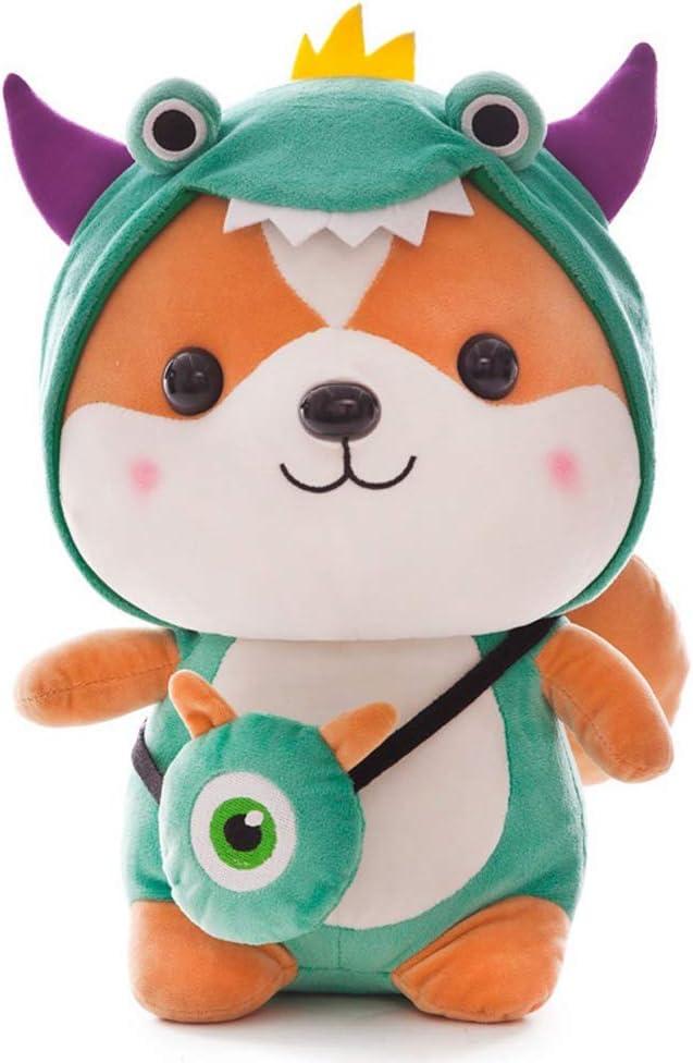 FeiWen Lovely Soft Squirrel Animal Creative Squirrel Cutest Doll Transformed Dinosaur// bee// elk// Unicorn Stuffed Plush Toy elk, 9.8in