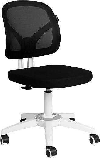 Hbada Bürostuhl Drehstuhl Schreibtischstuhl Ergonomische Rückenlehne ohne Armlehnen leicht Stuhl Esszimmerstühle Platzsparend Armless…